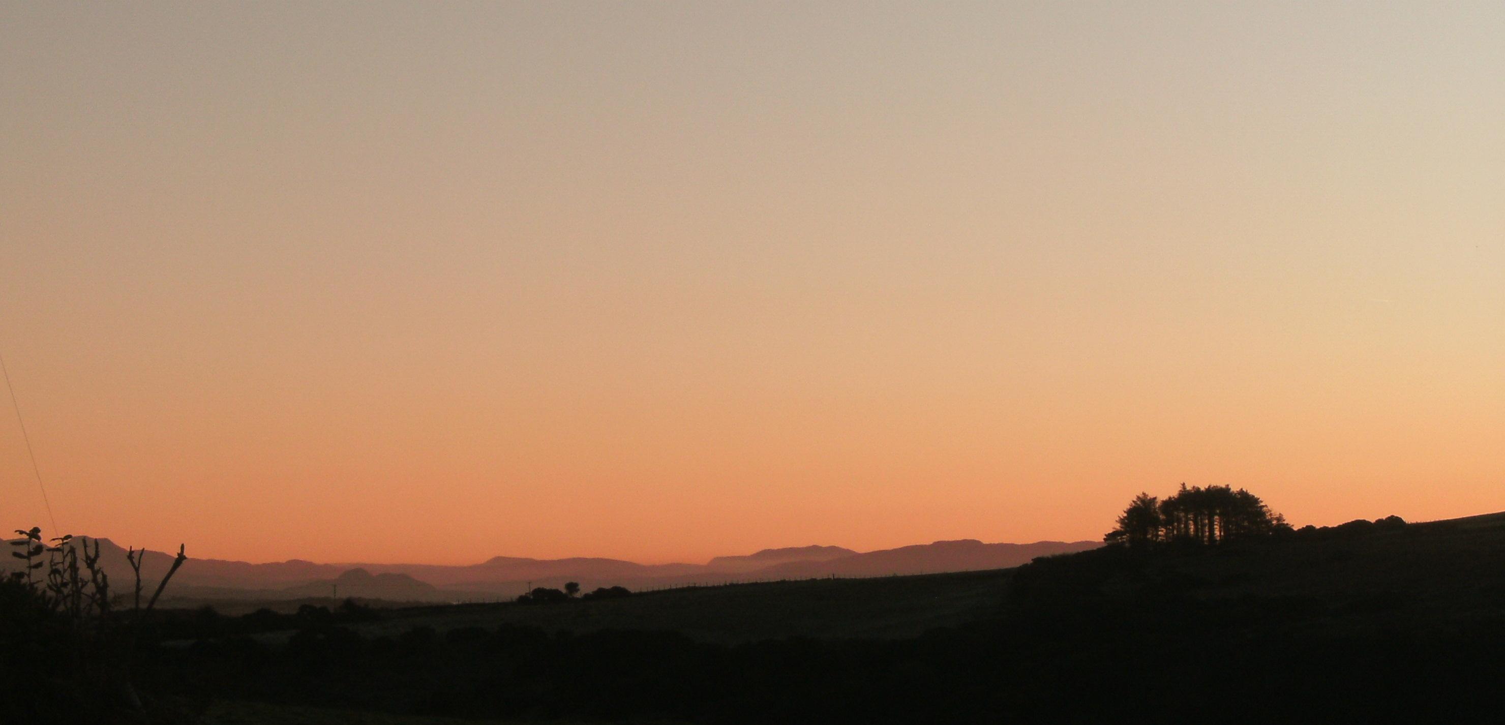 Sunrise over Cardigan Bay