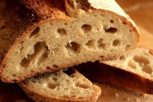 Sourdough crumb kamut loaf