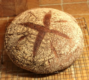 Miche made with wholemeal and swiss dark flour