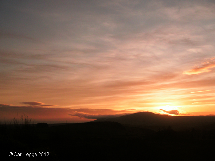 Llyn sunset 8th January 2012
