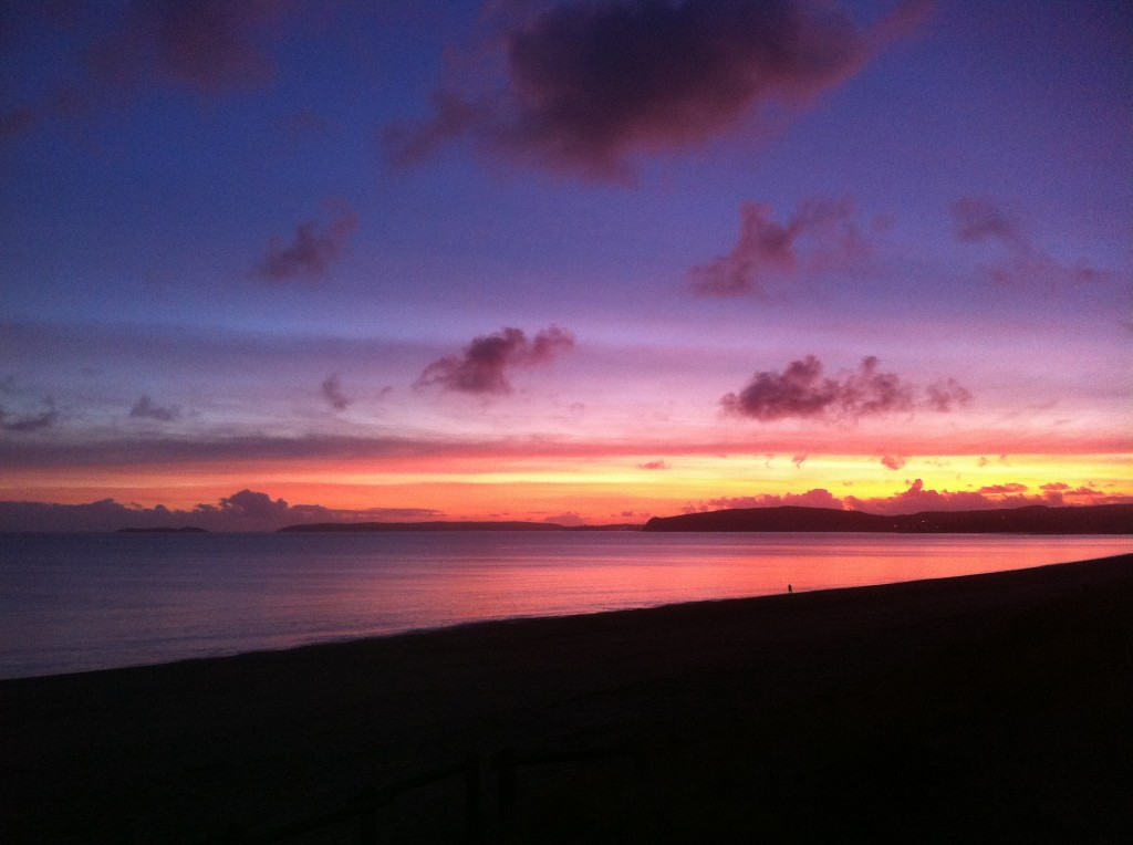 Sunset over Bardsey Island & Llŷn Peninsula 12 Jan 2012
