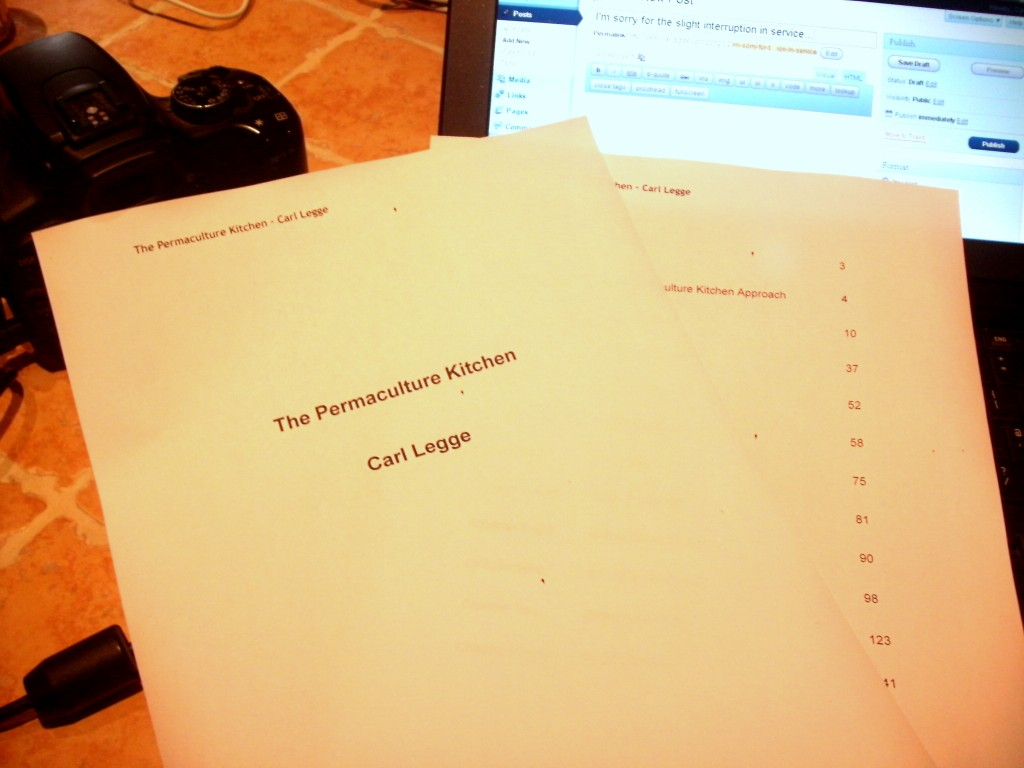 The Permaculture Kitchen by Carl Legge - draft manuscript