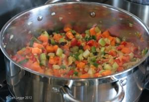 Vegetarian chilli - vegetable base