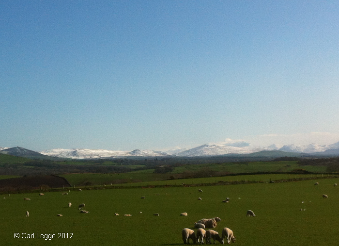 Snowdonia in snow 5th April 2012