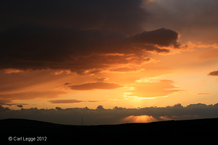 Llŷn Peninsula sunset - Crepuscular Rays April 2012