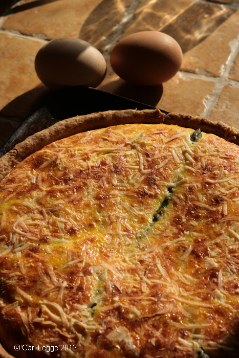 Asparagus, tarragon and piave cheese tart
