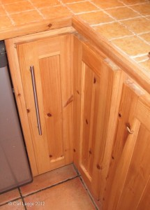 Hand made kitchen cupboard