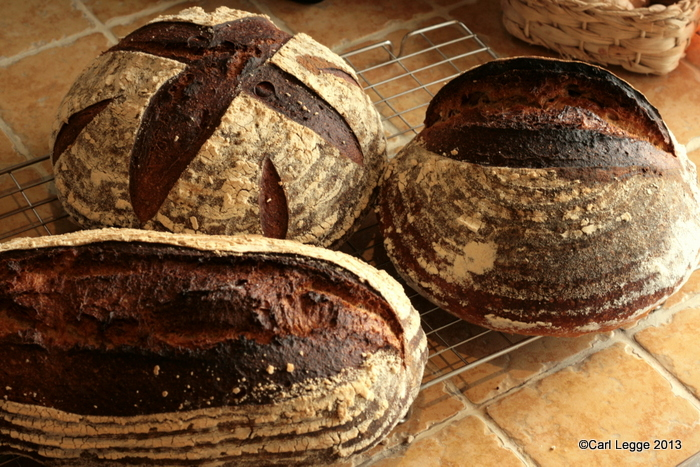 Three Sourdough loaves