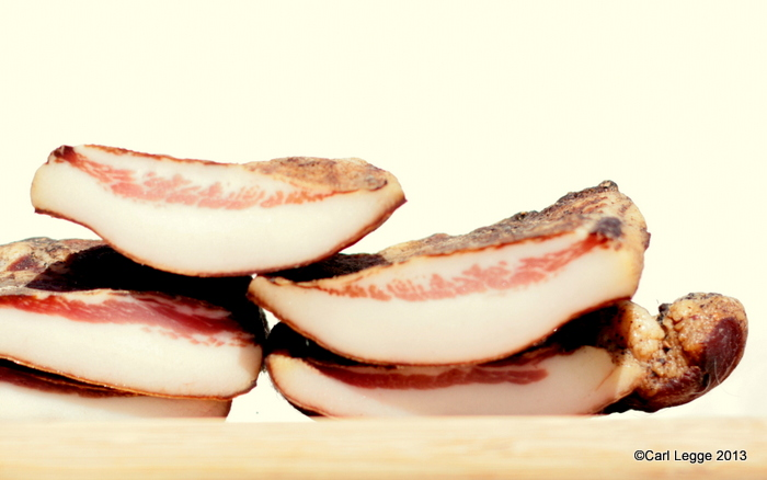 Guanciale cross section view