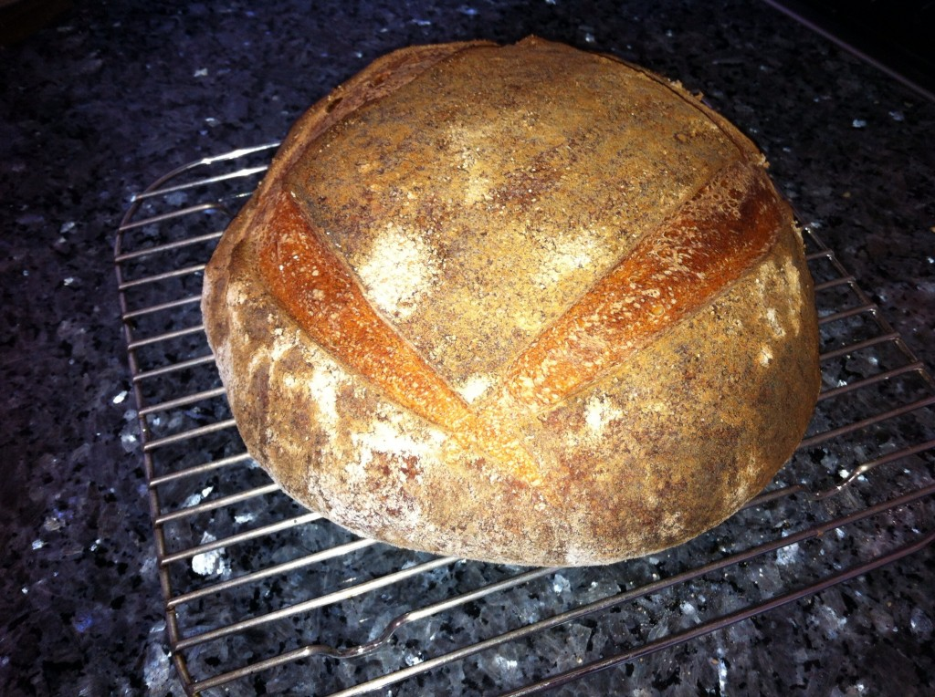 Beautiful cider barm sourdough bread